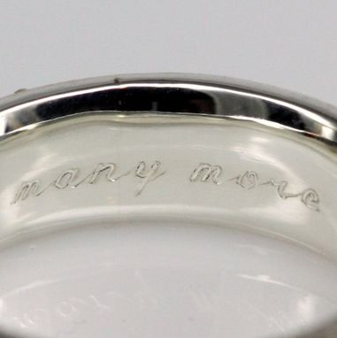 Custom Made Engraving For Silver Or Gold Rings