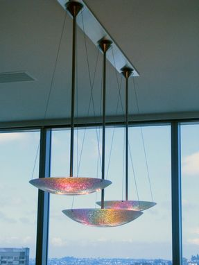 Custom Made Dichroic Dishes Chandelier