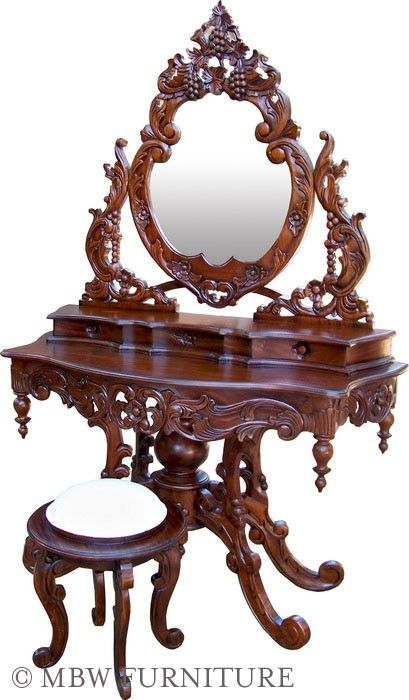 Custom Made Solid Mahogany French Mirror Vanity Dressing Table By Mbw Furniture Custommade Com