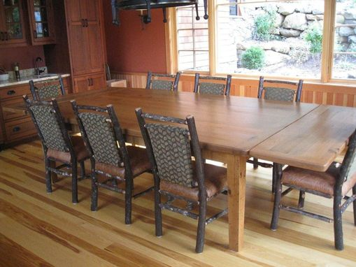 Custom Made Old Oak Rustic Dining Room Table