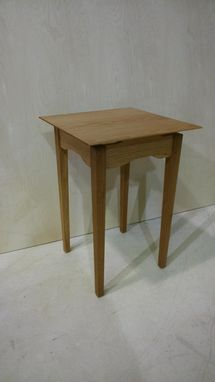 Custom Made Cloud Lift Oak Occasional Table