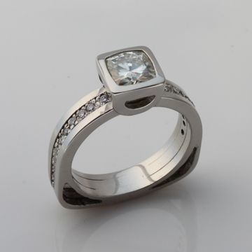 Custom Made Palladium Engagment Ring