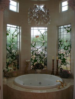 Custom Made Bathroom Privacy Window Treatment