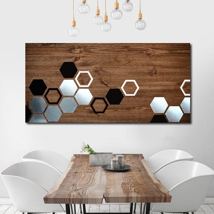 Buy Hand Made Mod Honeycomb 48x24 Wood Wall Art Metal Wall Art Home Decor Wall Decor Abstract Art Made To Order From Mod Wood Art Custommade Com