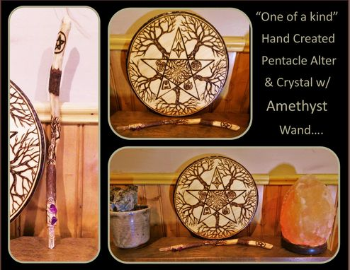 Custom Made Pentagram Jewelry,Pentagram Necklace,Crystal Wand,Wiccan Wand,Magick Wand,Alter Pentacle