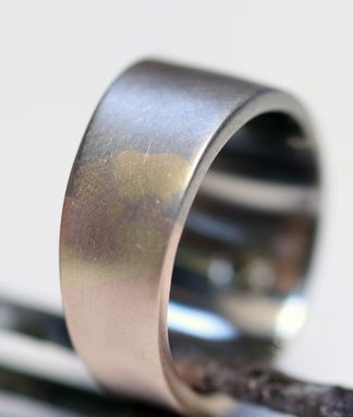 Custom Made White And Rose Gold Wedding Rings