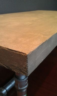 Custom Made Industrial Concrete Coated Coffee Table