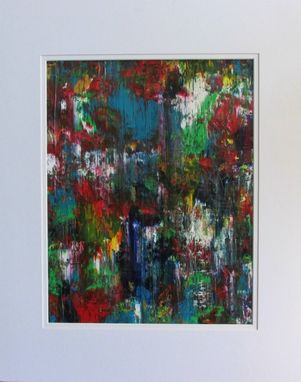 "Custom Made Multi-Color Abstract Acrylic Painting ""Beautiful Distance''"