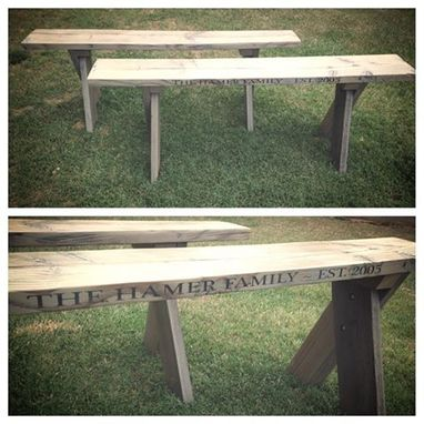 Custom Made Reclaimed Wood Benches