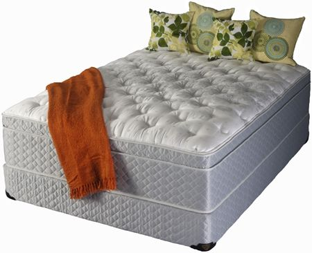 Custom Made Isolation Coil Mattress With Latex Foam, Pillowtop