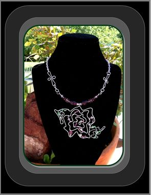 Custom Made Silver,Rose,Pendant,Necklace,Rose Jewelry