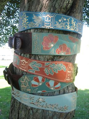 Custom Made Leather Storybook Belts (With Anthropologie)