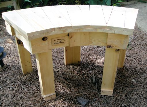 Custom Made 36 Inch And 46 Inch Solid Cypress Hand Crafted Fan Benches For Year Round Indoor Or Outdoor Use