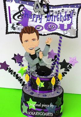 Custom Made Artist Composer Singer Actor Look Alike Birthday Cake Topper