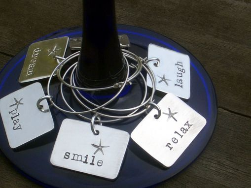 Custom Made Personalized Wine Charms In Sterling Silver
