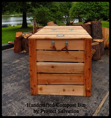 Custom Made Handcrafted Cedar Compost Bin