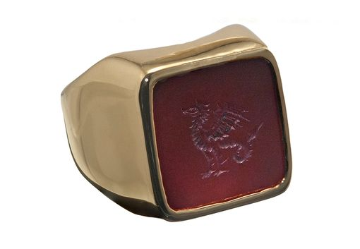 Custom Made A Gold Signet Ring