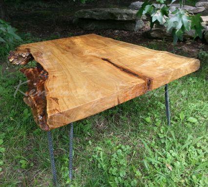 Handmade Maple Burl Live Edge Coffee Table Wood Coffee