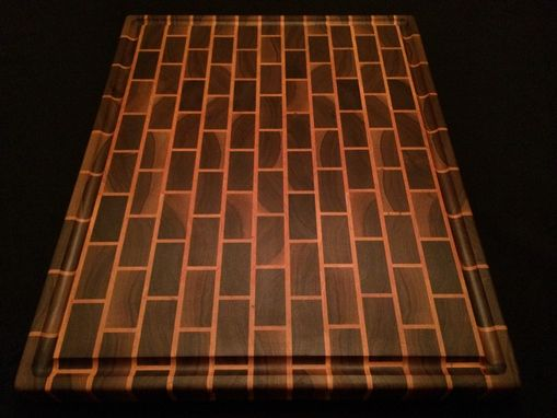 Custom Made Signature Black Brick Design End Grain Cutting Board
