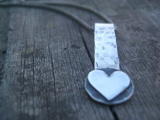 Custom Made Loving Heart Necklace In Sterling Silver