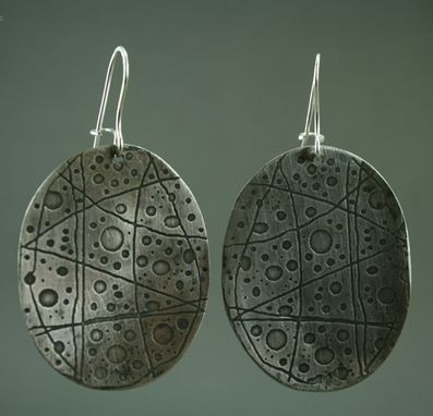 Custom Made Sterling Etched Earrings