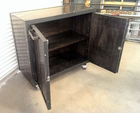 Custom Made Custom Industrial Office Storage Cabinet #014 •