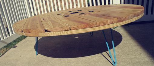 Custom Made Reclaimed Spool Coffee Table