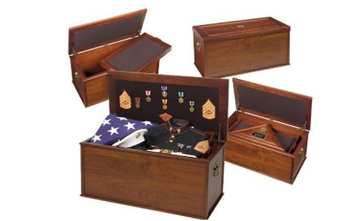 Custom Made Heirloom Personal Effects Chest, Military Effects Chest