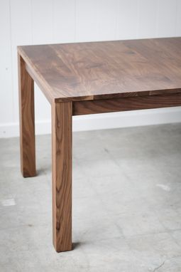 Custom Made Walnut Duffy Dining Table - Leaf Inserts