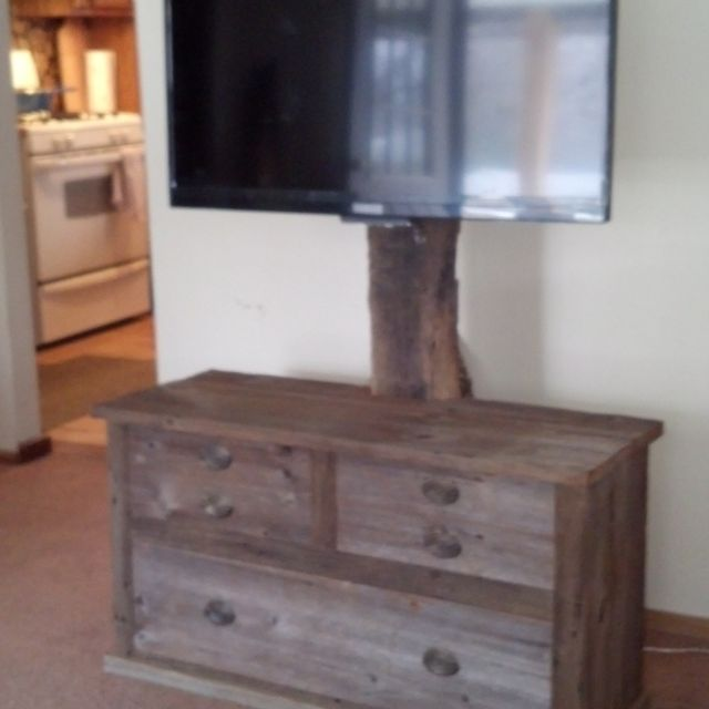Hand Crafted Barn Wood Tv Stand by Rats Wood Creations ...