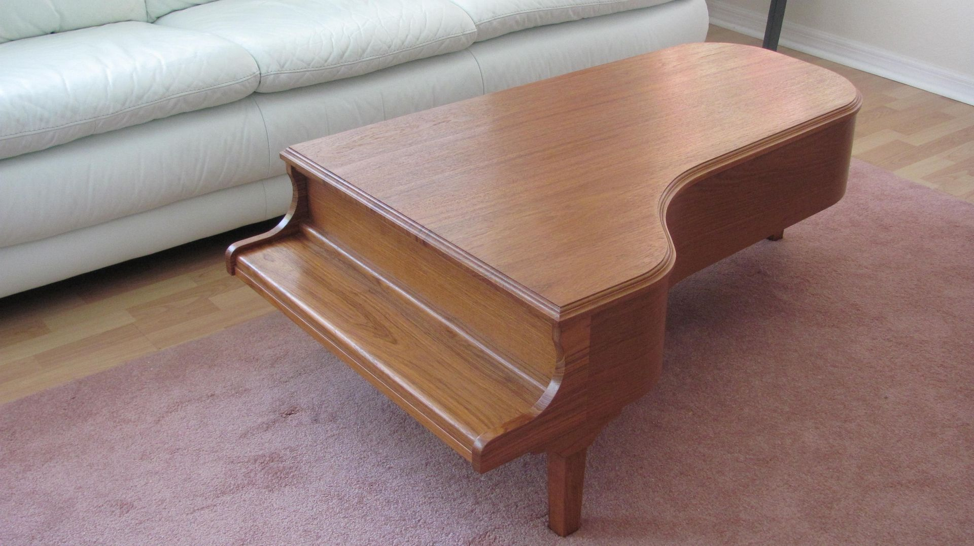 Hand Made Teak Piano Coffee Table By Natural Designs Inc