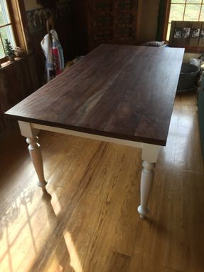 Custom Made Walnut Dining Table And Chairs
