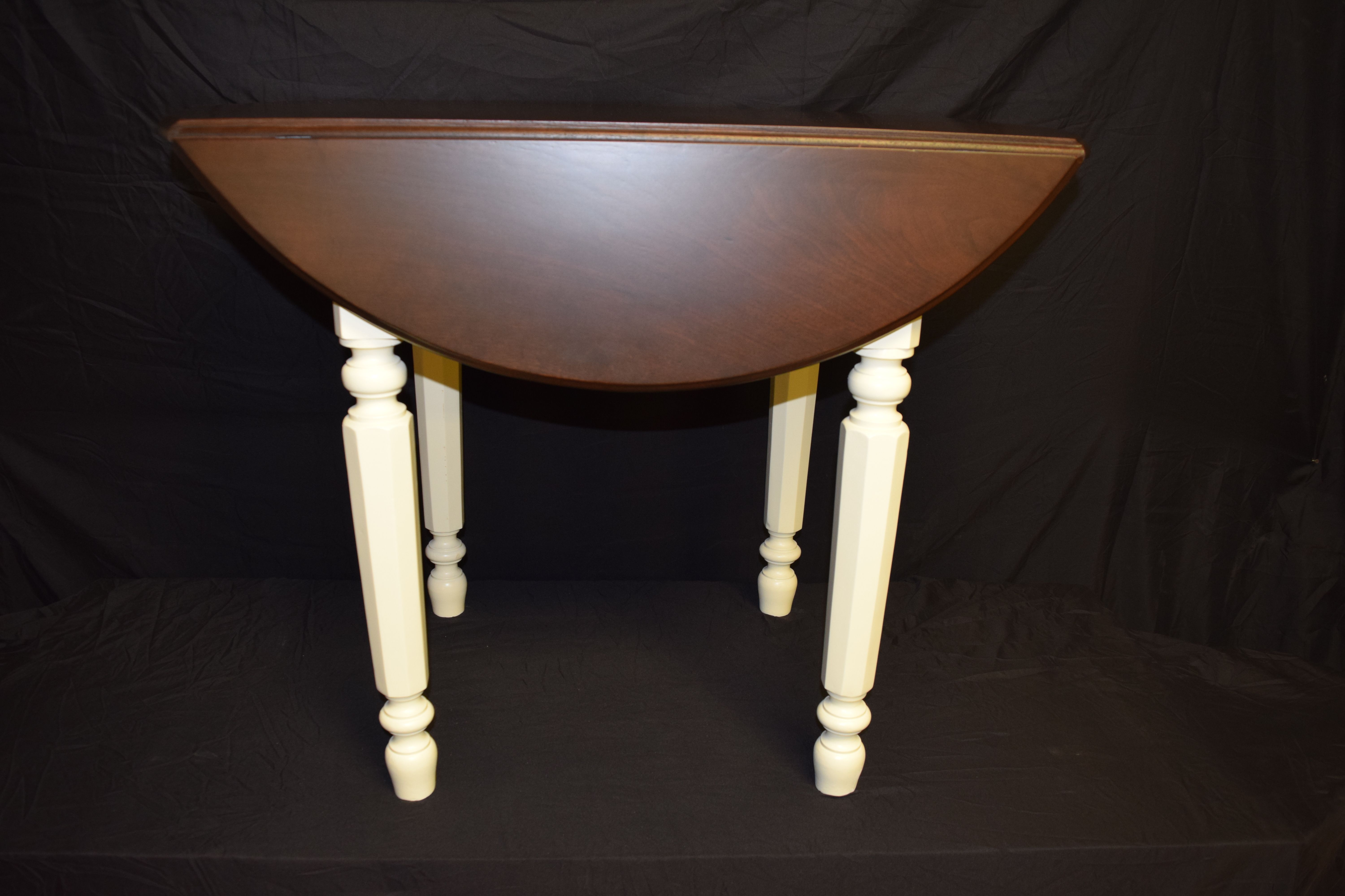 Buy a Custom Walnut Top Drop Leaf Table, made to order from Steddy