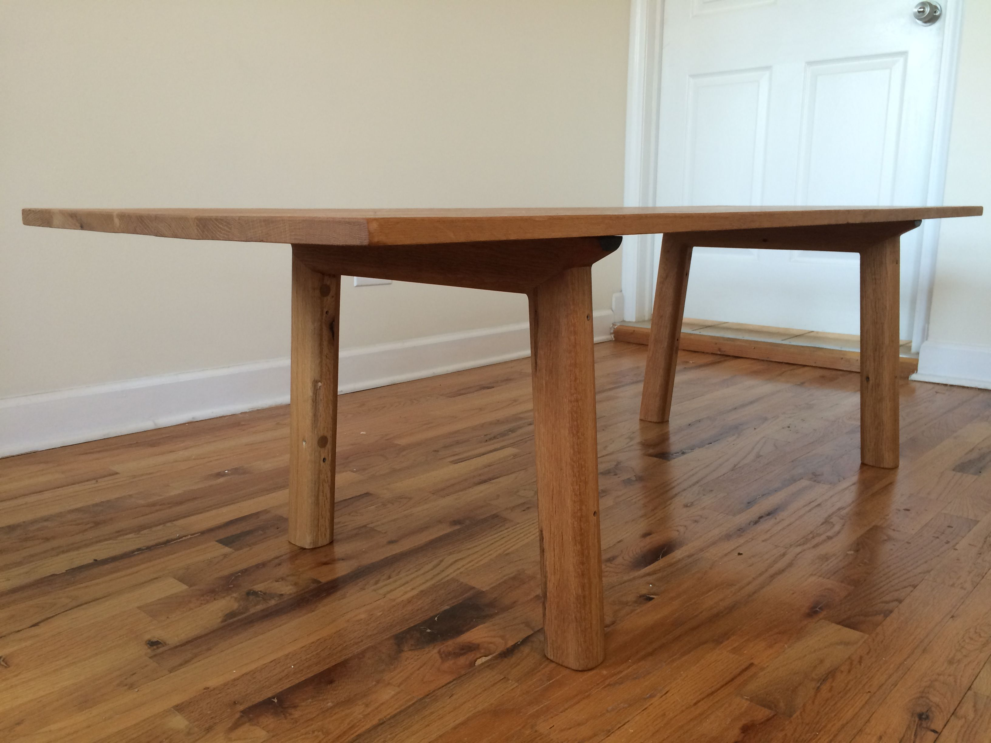 Buy a Handmade Reclaimed Red Oak Mid Century Modern Inspired