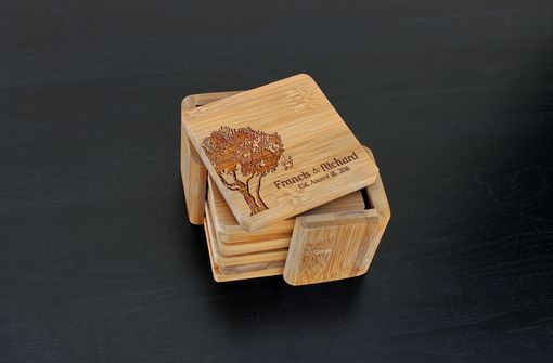 Custom Made Custom Bamboo Coasters, Custom Engraved Coasters --Cst-Bam-Francis Richard