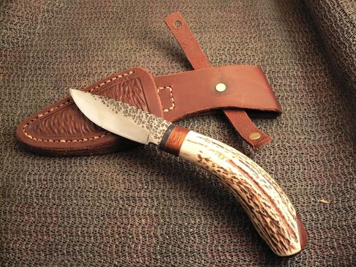 Custom Made Antler And Rosewood Knife