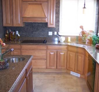 Custom Made Cherry Kitchen Cabinets - Solid Wood Construction.