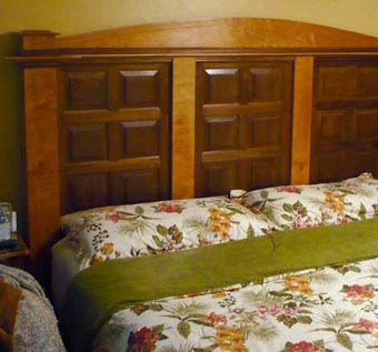 Custom Made Solid Walnut And Cherry Headboard