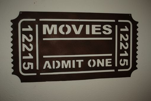 Custom Made Movie Ticket Metal Wall Art By Covington Iron Works