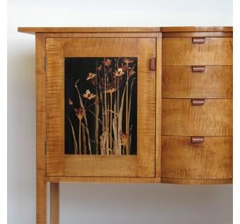 Custom Made Flowering Rush Sideboard