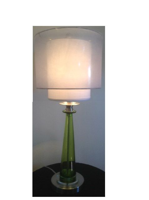 Custom Made Matching N Gl Table Lamps With Double Drum Shades