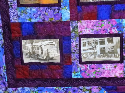 Custom Made Custom Chicago Landmarks Throw Quilt