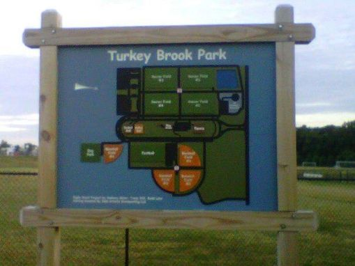 Custom Made Sign / Map For City Park