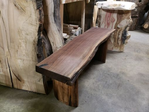 Custom Made Black Walnut Bench Solid Walnut