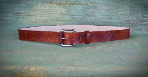 Custom Made Rustic Leather Belt Customized With Initials For Identification