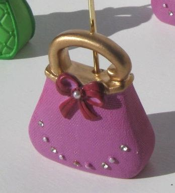 Custom Made Miniature Purse Placecard Holders, Aceo Holders, Sale
