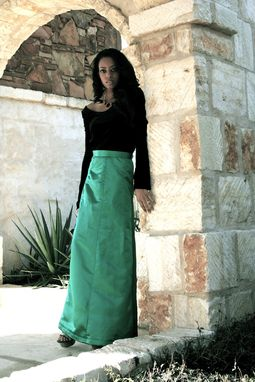 Custom Made Silk Taffeta Formal Skirt And Velvet Ballerina Blouse