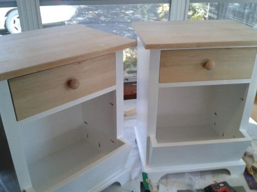 Custom Made Reclaimed Maple And Pine Night Stands