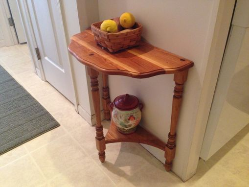 Custom Made 3-Legged Cherry Side Table