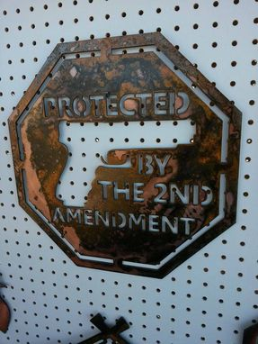 Custom Made 2nd Amendment Metal Sign
